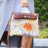 Kim Kardashian personlised Hermes bag