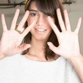Photo of a model with dry hands