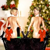 Ellen DeGeneres and Portia de Rossi Christmas card