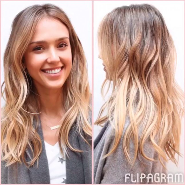 See Jessica Alba S Balayage Hair Tranformation On