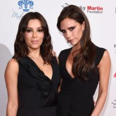 Victoria Beckham and Eva Longoria at the Global Gift Gala