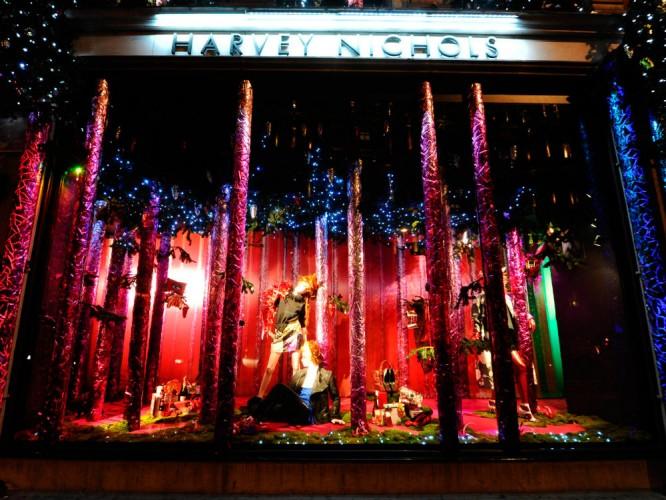 The Christmas Windows at Harvey Nichols