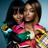 Naomi Campbell and Jourdan Dunn in Burberry SS15 campaign