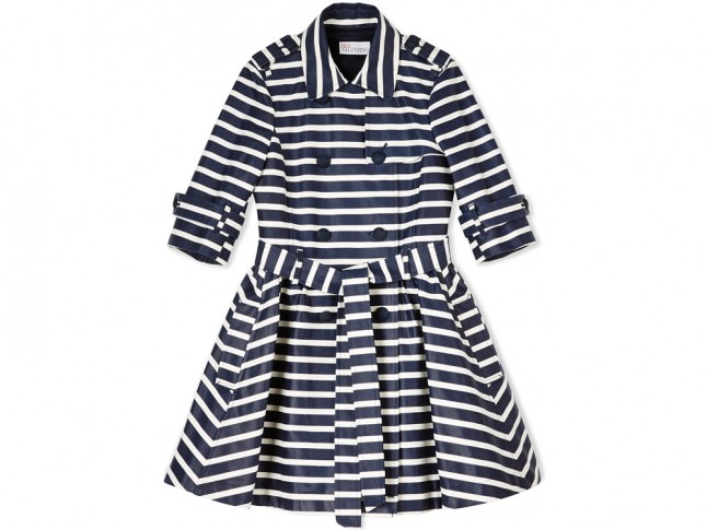 RedValentino?s Stripey Belted Trench Coat