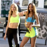 Top models' workout