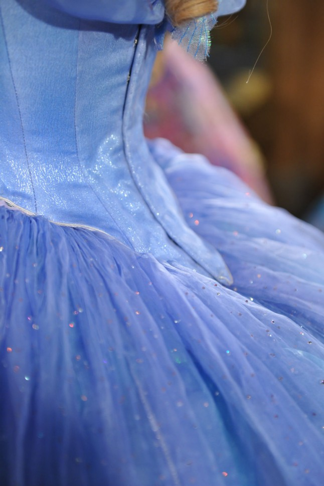 Cinderella Wedding Dress Scene : Cinderella the making of lily james costume by