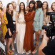 Models Wearing Maxi Dresses Backstage At The Chloe SS15 Fashion Show
