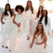 Beyonce, Solange and Tina Knowles at wedding