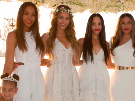 Beyonce Knowles, Blue Ivy and Kelly Rowland at Tina and Richard Lawson's wedding