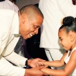 Jay Z and Blue Ivy at Tina and Richard Lawson's wedding