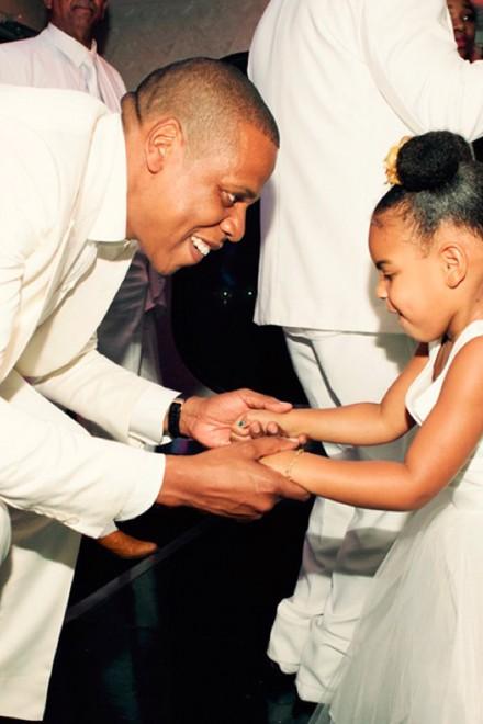 Jay Z and Blue Ivy at Tina and Richard Lawson's wedding