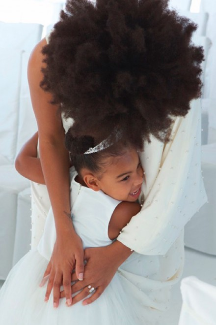 Blue Ivy and Solange Knowles at Tina and Richard Lawson's wedding