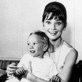 Audrey Hepburn with her son in 1961