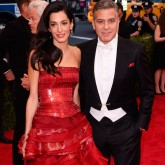Amal Clooney and George Clooney at the Met Gala 2015