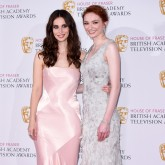 Heida Reed and Eleanor Tomlinson at BAFTA TV Awards 2015