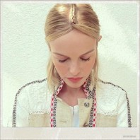 Kate Bosworth With A Plaired Festival Hairstyle