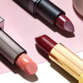 Powder red lipstick