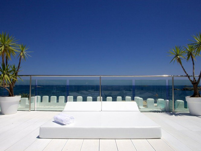 The Terrace at Es Vive hotel in Ibiza