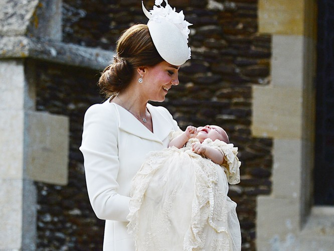 Kate Middleton, Duchess Of Cambridge Wearing Alexander McQueen