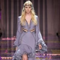 Lara Stone at Versace