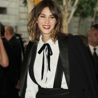 Alexa Chung with ombre hair