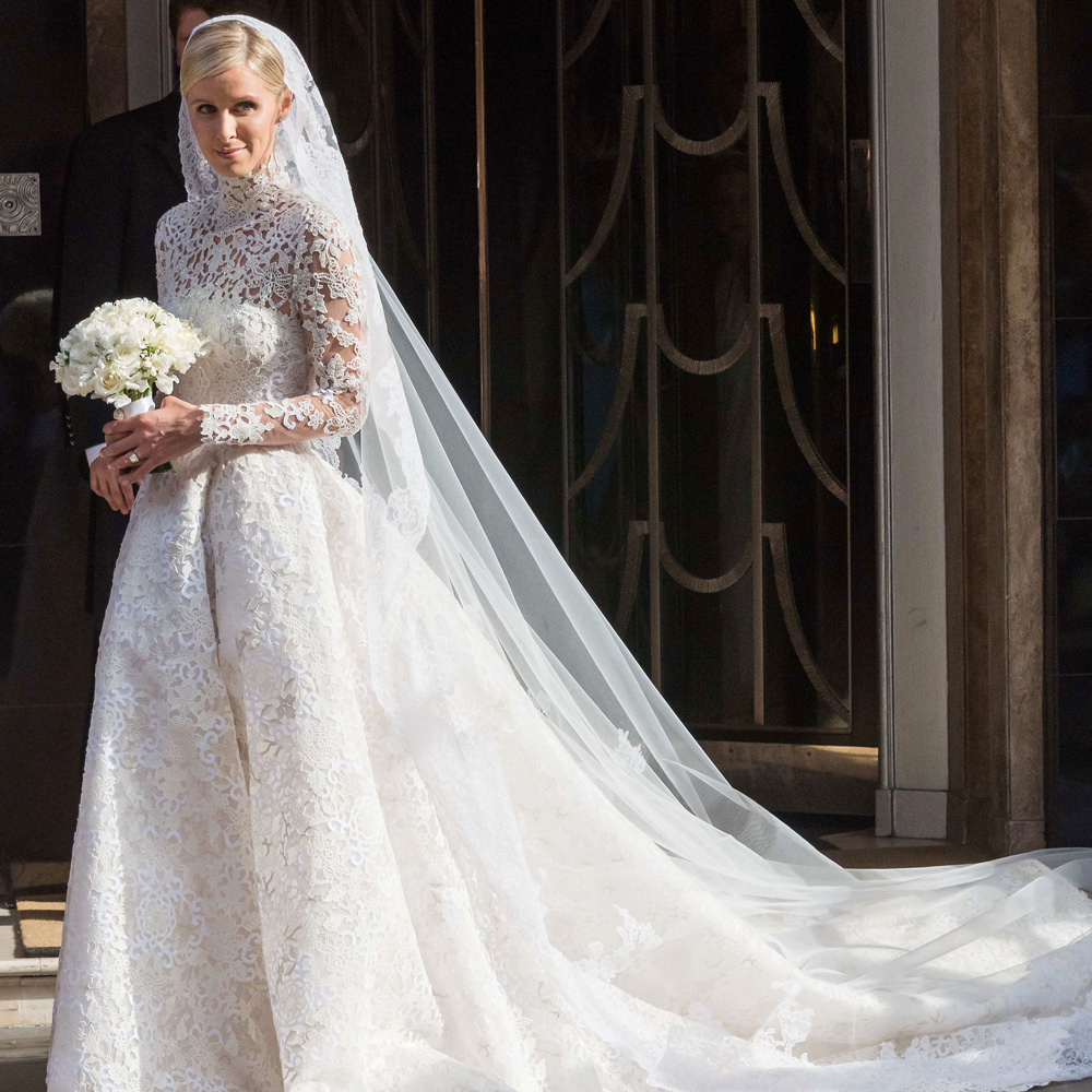 celebrity wedding dresses nicky hilton in valentino