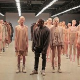 Kanye west fashion show kim kardashian