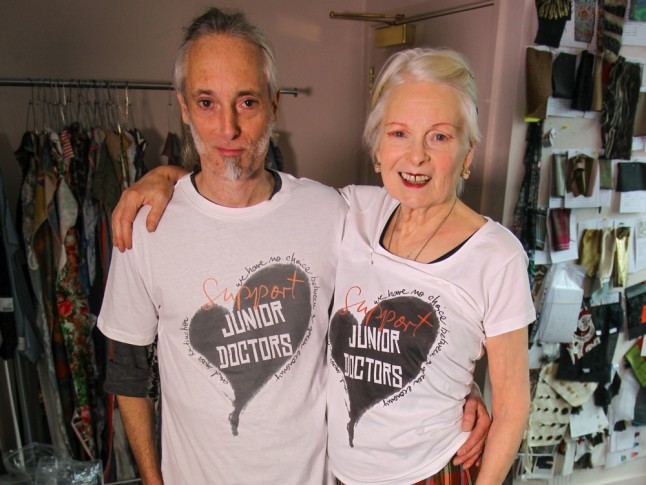 Vivienne Westwood Junior Doctors NHS T-shirts