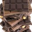 Sliced chocolate bar