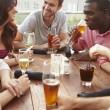 Men women drinking T