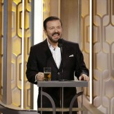 Ricky Gervais presenting the 2016 Golden Globes