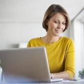 Woman on laptop T
