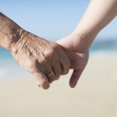 grandma holding hands T