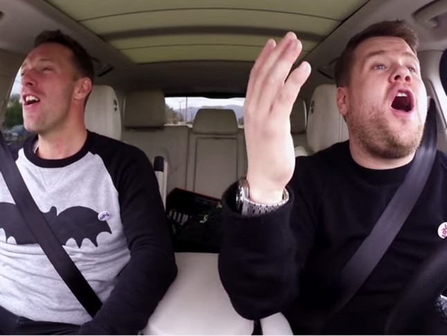 James Corden Chris Martin Carpool Karaoke