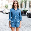 Alexa Chung wearing a denim jumpsuit