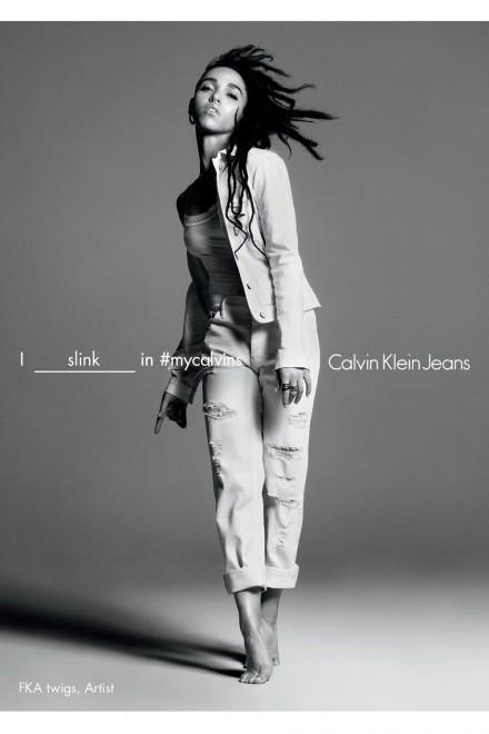 FKA Twigs in Calvin Klein Jeans