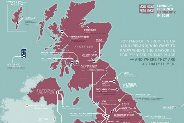 The Great British Television Map by Tim Ritz