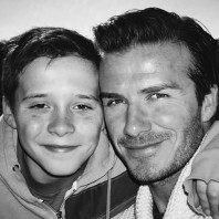 David Beckham and Brooklyn Beckham