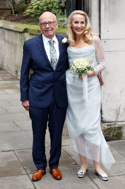 Jerry Hall Wedding Dress