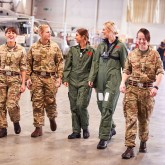 Sarah Bromley meets soldiers