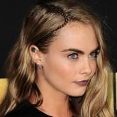 Cara Delevingne braid hairstyle at MTV Movie Awards 2016