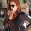 Isla Fischer drinking coffee T.jpg