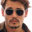 johnny depp, wearing sunglasses, vintage picture