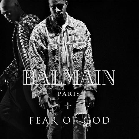 Kanye West, Balmain AW16 campaign